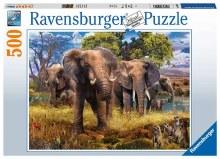 Casse-tête, 500 mcx - Famille d'éléphants