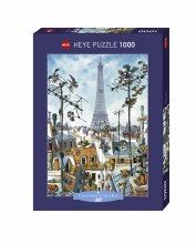 Casse-tête 1000 mcx - Cartoon Classics - Eiffel Tower