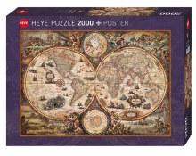 Casse-tête, 2000 mcx - Carte du monde Vintage