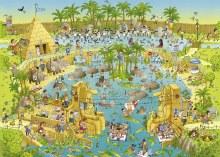 Casse-tête, 1000 mcx - Funky Zoo - Nile Habitat