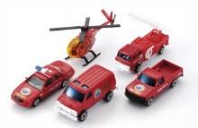 Ensemble de 5 véhicules de Pompiers
