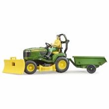 Tracteur à gazon et remorque