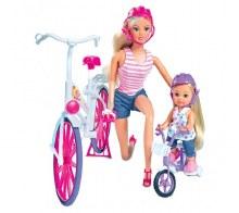 Steffi et Evi en vélo