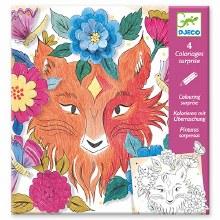 Coloriage surprise - Amis de la forêt