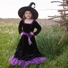 Robe Verra la sorcière avec chapeau (3-4 ans)