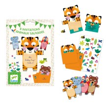 Cartes d'invitation - Animaux Sauvages