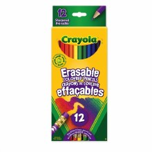 12 Crayons de couleurs effaçables