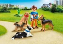 Entraineur et chiens
