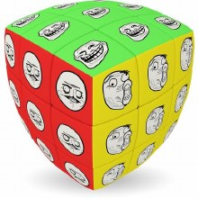 V-Cube Meme 3x3 Pillow