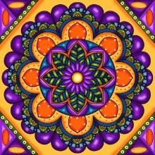 Jacarou Diamants - Mandala Violet