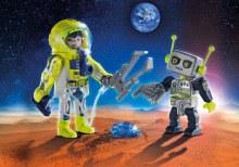 Duo spationaute et robot