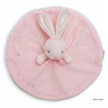 Doudou ronde lapin rose