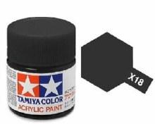 Peinture Tamiya - X-18 Noir Semi-gloss