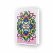 Carte Diamond Dotz - Pink star