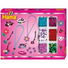 Hama - Boite de 2400 perles rose