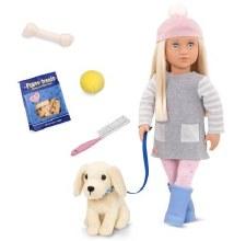 Meagan avec chien