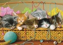 Casse-tête, 35mcx - Kittens in basket