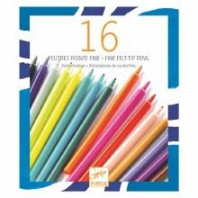 16 crayons feutres à pointes fines