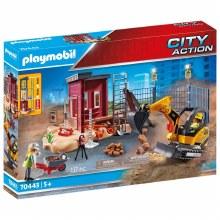 Mini-Pelleteuse et chantier