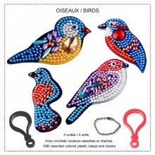 Jacarou Diamants - Portes-Clés Oiseaux
