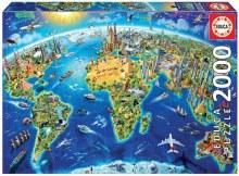 Casse-tête. 2000 mcx - Symbole du monde