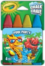 4 Craies pour trottoir - Pool Party