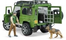 Land Rover - Garde forestier et chien