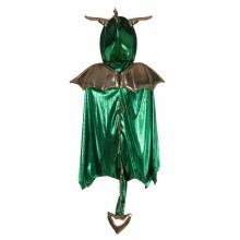 Cape de dragon vert - medium (5-6ans)