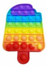 "Push ""n"" pop fidget Popsicle Rainbow"
