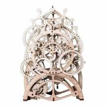 Wooden Mechanical Gears - Pendulum Clock