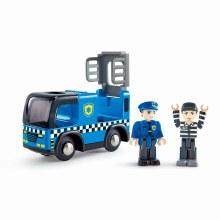 Voiture de police avec sirènes