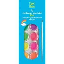 Gouache Fluo 12 couleurs