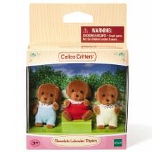 Calico Critters - Triplets Labrador Chocolats