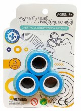 Anneaux magnétiques bleus