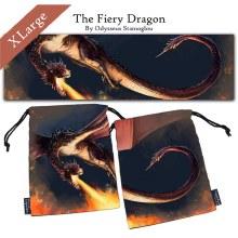 Dice Bag - Fiery Dragon XL