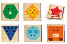 Casse-tête de bois 36 mcx - Puzzles Basic