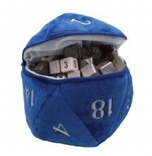 Dice Bag D20 Plush - Bleu