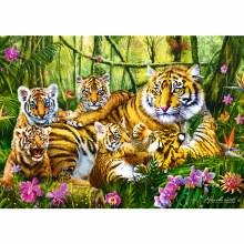 Casse-tête 500 mcx - Famille de Tigres