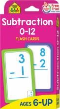 Cartes Éclaires - Soustractions 1 à 12
