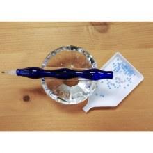 Jacarou Diamants - Stylet en verre Bleu