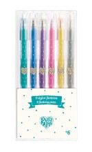 6 Crayons gel à paillettes