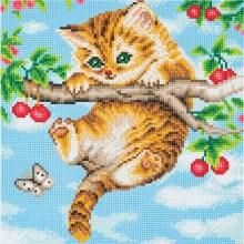 Crystal Art - Cherry Kitten - Medium