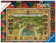 Casse-tête, 1500 mcx - Harry Potter - Carte de Hogwarts