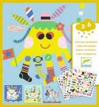Créer avec des stickers - Animaux Marin