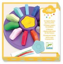 12 crayon fleurs pour les petits