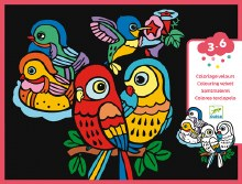 Coloriage Velours - Oiseaux