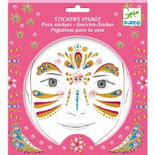 Stickers visage - Princesse or