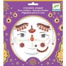 Stickers visage - Princesse d'inde