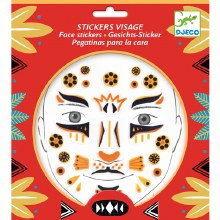 Stickers visage - Léopard