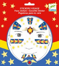 Stickers visage - Super héros
